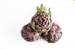 Featured thornless artichokes, produced by Italian. Organic agriculture Royalty Free Stock Photography