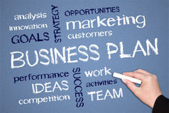 Features of Business plan Royalty Free Stock Photos
