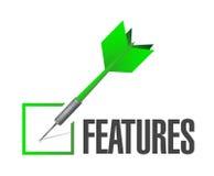 Features dart check mark illustration design Stock Photos