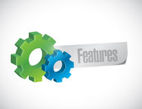 Features and gears sign illustration Stock Image