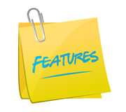 Features memo post illustration design Stock Images