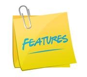features memo post illustration design Stock Images