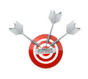 Features target illustration design Stock Photography