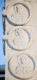 Features white stone carving at St. George`s Cathedral Stock Photos