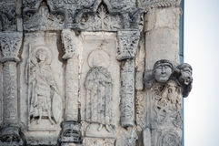 Features white stone carving at St. George`s Cathedral Royalty Free Stock Photography