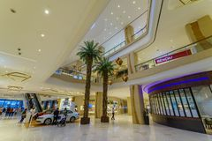 Feb 20,2018 Ground floor Mall hall in Up town Mall, Taguig City. Philippines Royalty Free Stock Photos