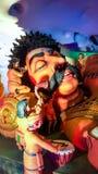 17 2017 Feb Indiańska postać opiera Buddha, Batu zawala się, Kuala Lumpur, Malezja Fotografia Royalty Free
