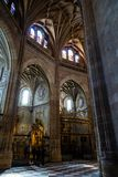 Feb 2019 - Segovia, Castilla y Leon, Spain - Segovia Cathedral interiors. It was the last gothic style cathedral built in Spain, during the sixteenth century stock photo