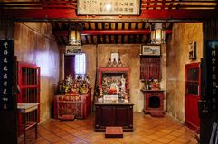 Songkhla, THAILAND - Old vintage historic building of Songkhla city pillar shrine with Chinese architecture at Nang. FEB 28, 2013 Songkhla, THAILAND - Old royalty free stock image