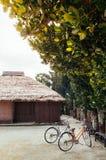 Historic Ryukyu village in Taketomi, Okinawa, Japan stock photo