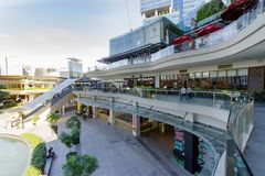 Feb 20,2018 View of shopping Up town mall from the second floor, Taguig City. Philippines Stock Photo