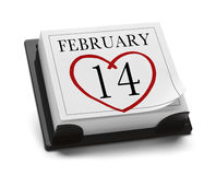 14 febbraio Fotografie Stock Libere da Diritti