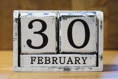 30 febbraio Fotografia Stock Libera da Diritti
