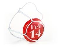 14 febbraio Fotografia Stock Libera da Diritti