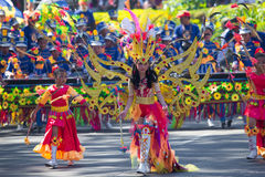 27 febbraio 2015 Baguio, Filippine Baguio Citys Panagbenga F Fotografie Stock Libere da Diritti