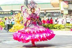 27 febbraio 2015 Baguio, Filippine Baguio Citys Panagbenga F Fotografia Stock Libera da Diritti
