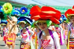 27 febbraio 2015 Baguio, Filippine Baguio Citys Panagbenga F Immagine Stock Libera da Diritti