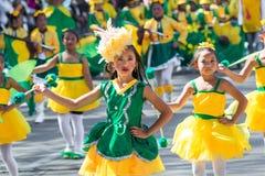 27 febbraio 2015 Baguio, Filippine Festival del fiore di Baguio Citys Panagbenga Fotografia Stock Libera da Diritti