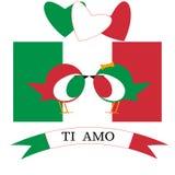 14 febbraio bandiera di paese di giorno di S. Valentino illustrazione vettoriale