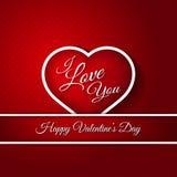 14 febbraio carta felice di giorno di biglietti di S. Valentino Fotografie Stock Libere da Diritti