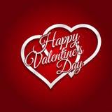 14 febbraio carta felice di giorno di biglietti di S. Valentino Immagine Stock