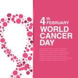 4 febbraio concetto di giorno del Cancro del mondo royalty illustrazione gratis