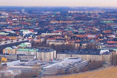 11 febbraio 2017 - effetto del giocattolo dello Inclinazione-spostamento di Stoccolma, Svezia Immagini Stock Libere da Diritti