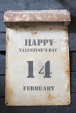 14 febbraio, giorno del ` s del biglietto di S. Valentino, stile d'annata Fotografie Stock