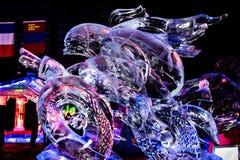Febbraio 2013 - Harbin, Cina - bella statua straniera del ghiaccio Fotografia Stock