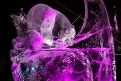Febbraio 2013 - Harbin, Cina - belle statue del ghiaccio al festival di lanterna del ghiaccio Fotografie Stock Libere da Diritti