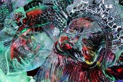 Febbraio 2013 - Harbin, Cina - belle statue del ghiaccio al festival di lanterna del ghiaccio Immagine Stock Libera da Diritti