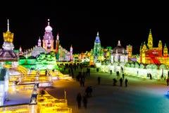 Febbraio 2013 - Harbin, Cina - ghiaccio internazionale e festival della neve Immagine Stock Libera da Diritti