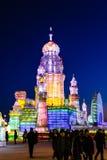Febbraio 2013 - Harbin, Cina - ghiaccio internazionale e festival della neve Fotografia Stock Libera da Diritti