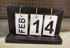 14 febbraio, icona del calendario immagine stock