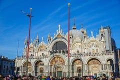 25 febbraio 2017 L'Italia, Venezia Cattedrale di San Marco Immagini Stock Libere da Diritti