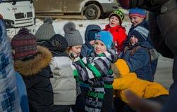 26 febbraio 2017 la festa di Maslenitsa in Borodino Immagini Stock Libere da Diritti