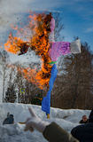 26 febbraio 2017 la festa di Maslenitsa in Borodino Fotografie Stock