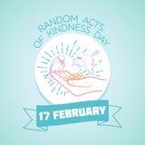 17 febbraio Leggi casuali del giorno di gentilezza illustrazione di stock