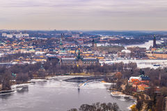 11 febbraio 2017 - panorama del paesaggio urbano di Stoccolma, Swed Fotografie Stock Libere da Diritti