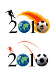 Febbre 2010 di gioco del calcio della tazza di mondo in Sudafrica Immagine Stock