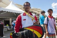 Febiandi Andri Muhamad, equipe de Indonésia de Waterski Imagens de Stock