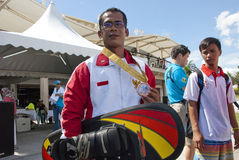 Febiandi Andri Muhamad, Indonesia Team of Waterski Stock Images