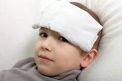 Febre da criança Imagem de Stock Royalty Free