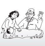 Febre da doença ilustração do vetor