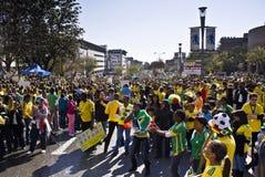 A febre do futebol do copo de mundo prende Sandton Imagem de Stock
