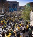 A febre do futebol do copo de mundo prende Sandton Foto de Stock Royalty Free