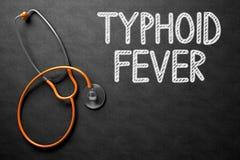 Febre tifoide escrita à mão no quadro ilustração 3D Fotografia de Stock Royalty Free