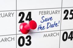 24. Februar Lizenzfreie Stockfotos