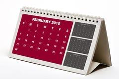 Februar 2010-Kalender Lizenzfreie Stockfotografie