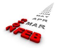 Februar 2013 stock abbildung